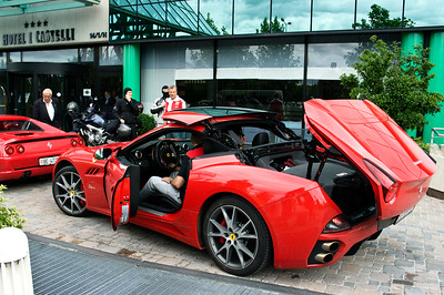 (For David): Ferrari Club touring the Piedmont region of Italy.