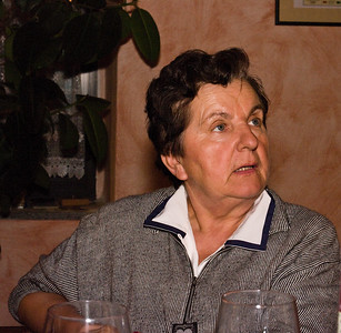 The mother of Pier Paolo Grasso, who made us a wonderful meal.