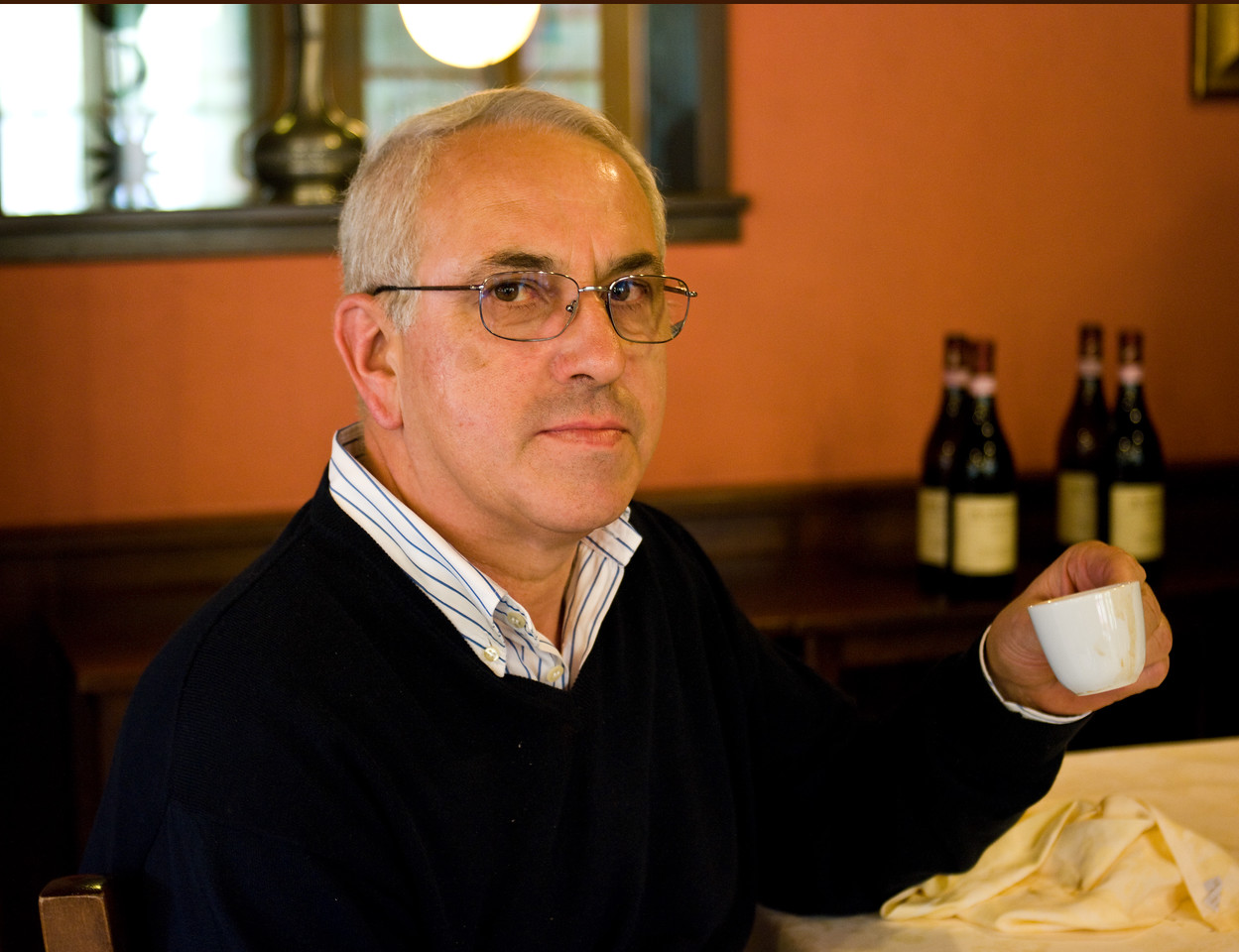 Maurilio Palladino, owner and winemaker of the Palladino winery in the Piedmont wine region of Italy. The Palladino family has been making wine in Serralunga d'Alba since 1870.