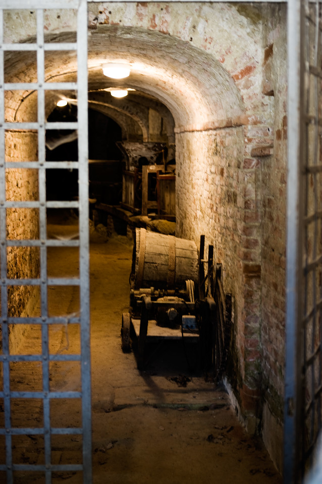 Below castle passage at the Sangervasio Winery in Tuscany.