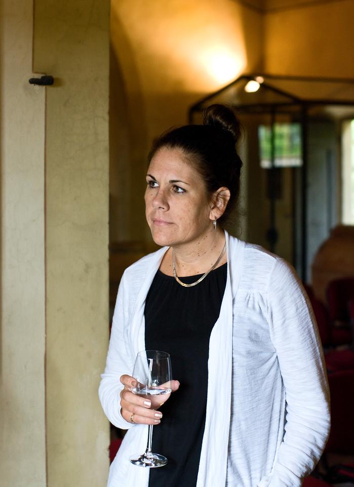 Ambiente's own Kellie Stafford visiting Sangervasio Winery in Tuscany.