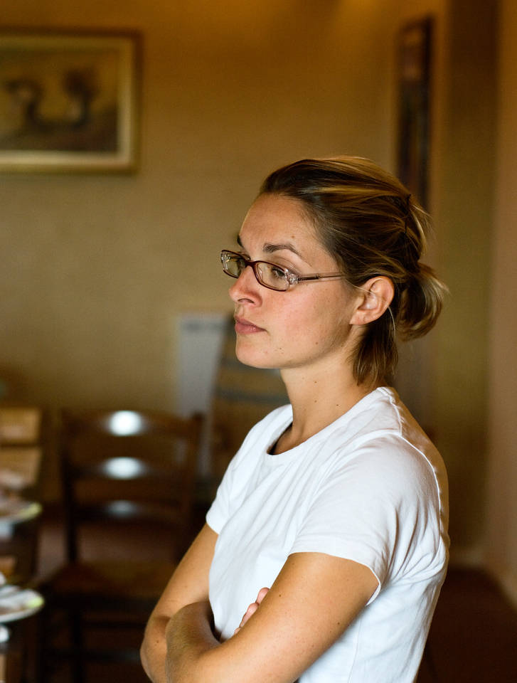 The charming Elena the enologist at Sangervasio Winery in Tuscany.