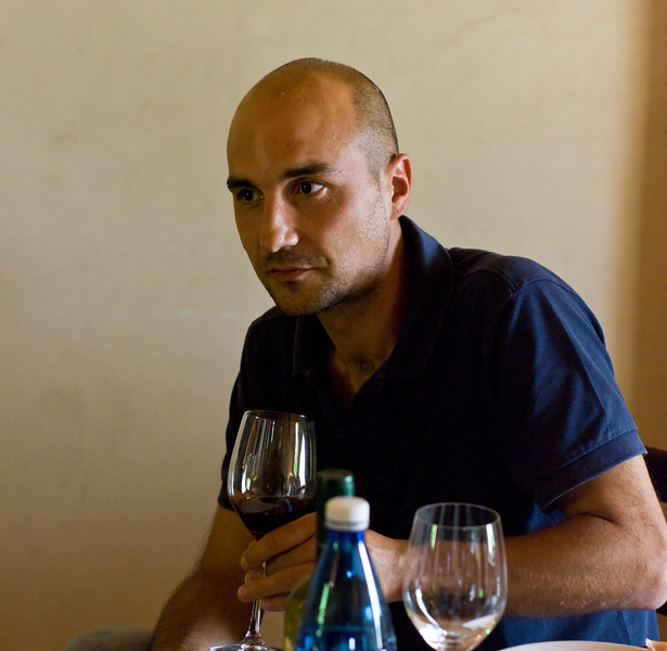 The very hospitable Paolo at the Sangervasio Winery in Tuscany.