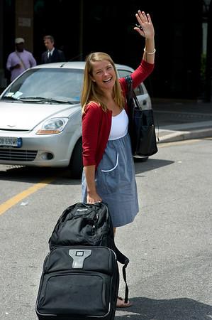 Dani departs in Verona.