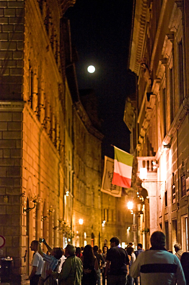 Full moon over Sienna, Tuscany.
