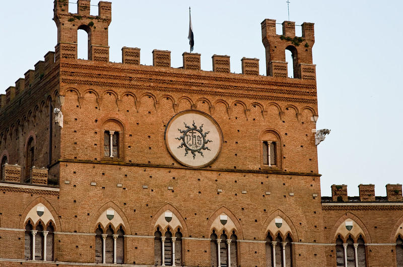 The palazzo in Sienna, Tuscany.