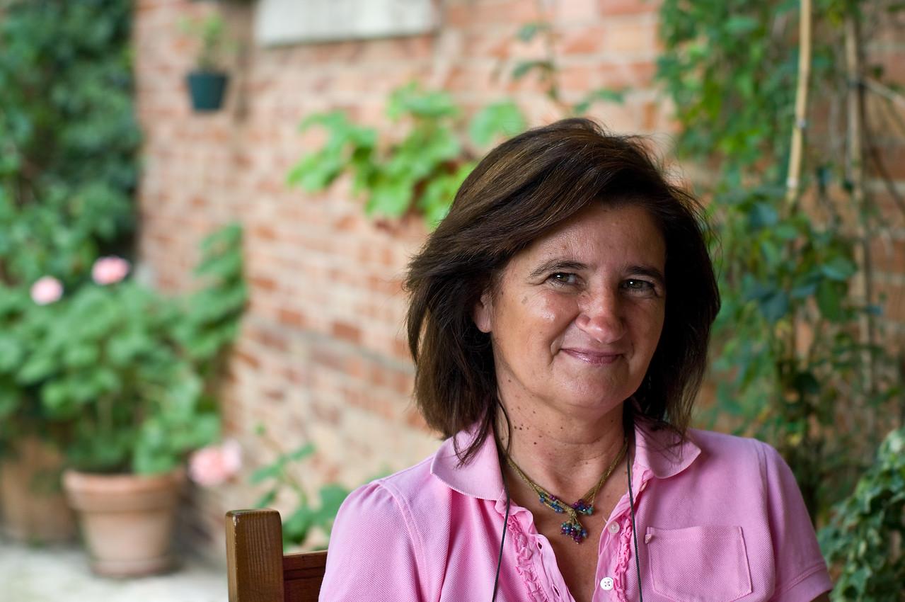 Elizabetta Fanetti, owner and winemaker of Fanetti Vino Noble di Montepulciano in Tuscany.