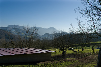 View of the Basque country side at Isastegi. (Pentax K20D with DA 21mm lens)