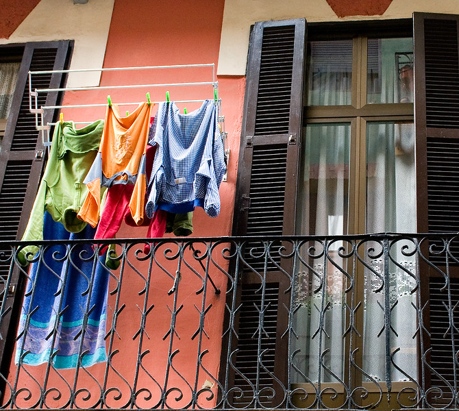 Drying Laundry in Tolosa, Spain.