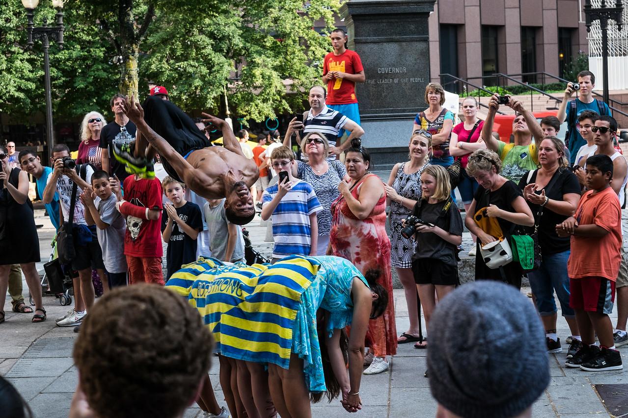 Boston MA Street Performer