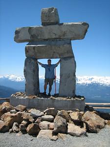 2010 Olympic Statue, Whistler Peak