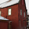Traditional corrugated iron building in Tromso harbour