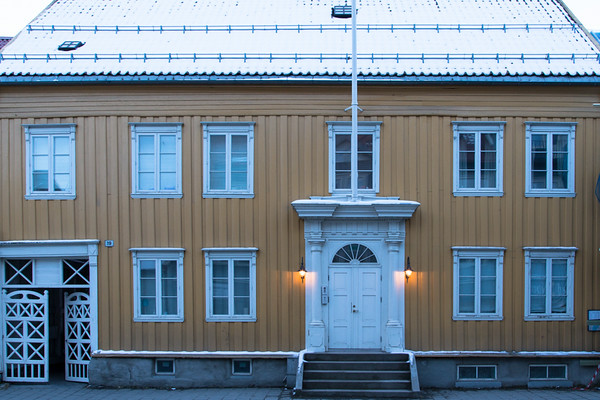 Tromso wooden house