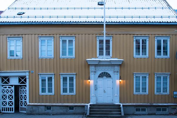 Tromso wooden house