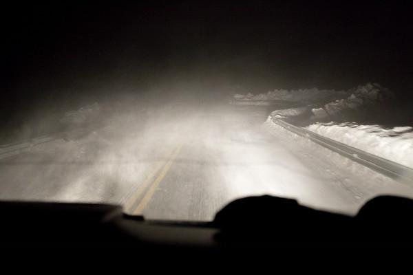Chasing the light - drifting snow