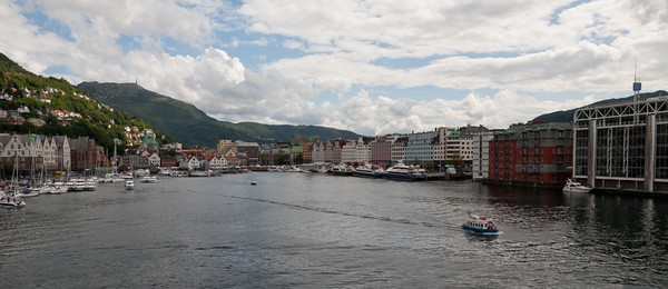 Clouds above Bergen Harbour