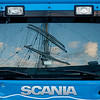Scania reflections of Statsraad Lehmkuhl