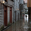 Passage through the Bryggen in the rain