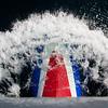 FV Brennholm's bow wave