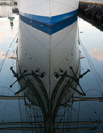 Reflections of Norwegian tallship - Statsraad Lehmkuhl