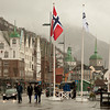 Bergen quayside in the rain