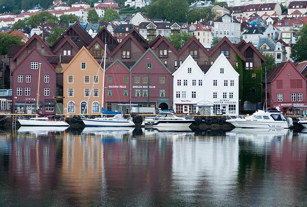 Harbour reflections, Bryggen, Bergen