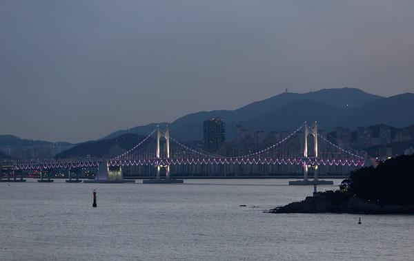 Evening light over Haeundae Beach, Busan, Korea