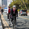 Cyclists on Moontan Road, Haeundae Beach, Busan, South Korea