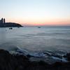 Haeundae Beach and Bay at just prior to sunrise