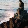 Early morning sun on Little Mermaid statue, Busan