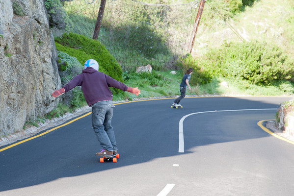 Skate Boarders on Chapman's Drive