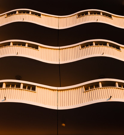 Balconies in late afternoon sun