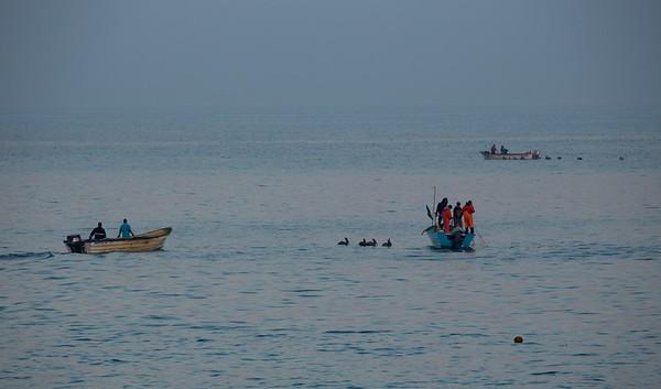 Dawn fishing activity off Mazatlan