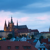 Prague castle after sunset