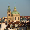 Early morning sun on the St Nicholas Church and Tower, Prague