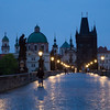 Wet pre-dawn on Charles Bridge Prague - 20 May 2015