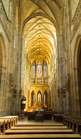 Interior of St. Vitus Cathedral, Prague