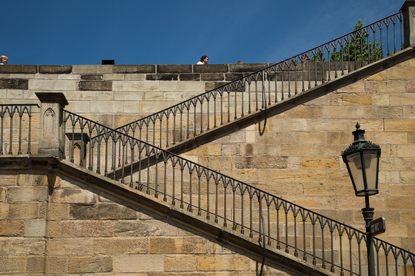 Steps to Charles Bridge, Prague, 17 May 2015