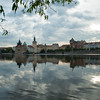 Reflections of east bank of Vltava taken from Shooter's Island (Střelecký ostrov), Prague