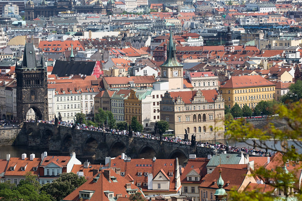 Charles Bridge as seen from Prague Castle