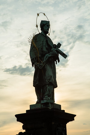 Statue of St. John of Nepomuk on Charles Bridge, Prague
