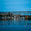 Twilight across Portage Bay and University Bridge