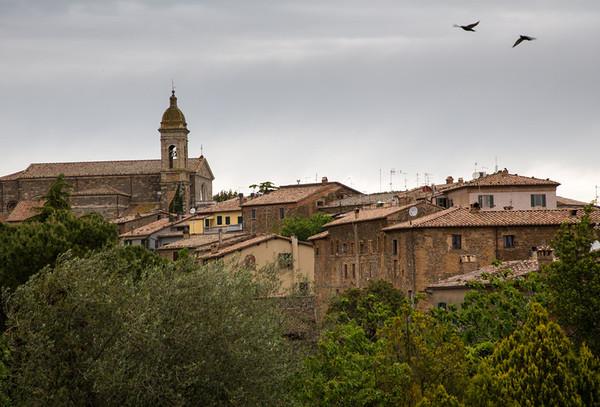 Flight over Montalcino