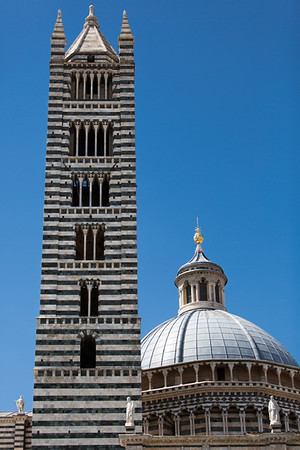 Cathedral dome and tower, Siena