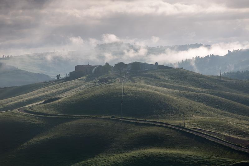 Mist over Le Crete, Tuscany