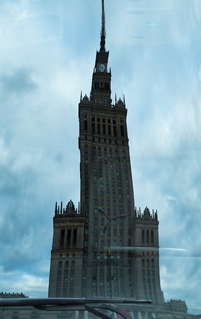 Reflection of Palace of Culture and Science, Warsaw, Poland