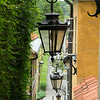 Lamps and alleyway, Warsaw Old Town, Poland