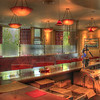 The bar at Kelly Liken restaurant in Vail, Colorado. We happened to be visiting in the off season, hence the empty bar. The emptiness is definitely not indicative of the quality of the food and cocktails—both were fabulous! © Sugar + Shake