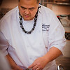 Chef Tylun Pang prepares his dessert course. © 2014 Sugar + Shake