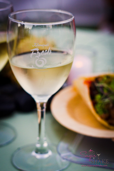 Wines were selected to accompany each dish. © 2012 Sugar + Shake